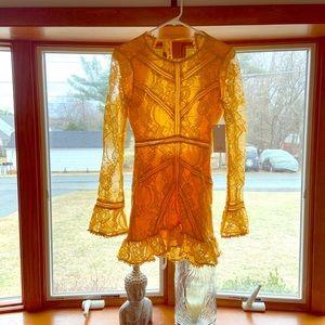 Yellow crochet dress. Never worn. Gorgeous